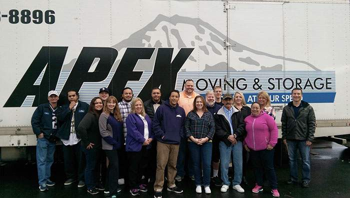 Apex moving team with truck