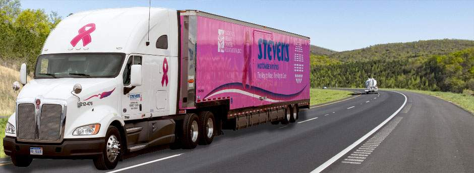 Breast Cancer Awareness Moving Truck
