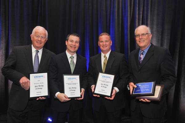 Apex Moving Executives holding awards