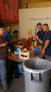 Apex movers with food donations