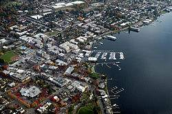aerial view of Kirkland, WA