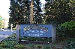 welcome sign for Redmond, Washington