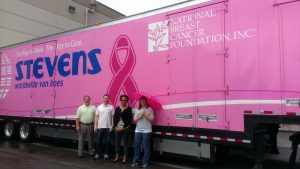 Stevens Worldwide National Breast Cancer Foundation truck