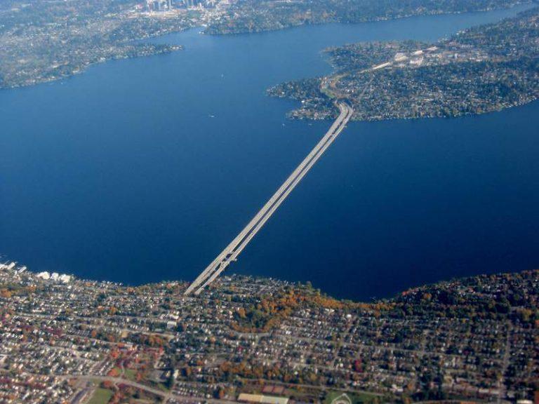 Interstate bridge at Mercer Island, WA